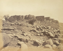 South-east view of the Fort, Gwalior